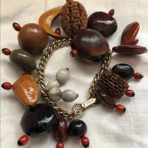 Jewelry - Evil eye protection bracelet wooden seed beads
